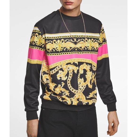Zara Other - Zara Fluorescent Baroque Print Sweater